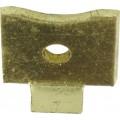 Bookcase Clip Flat Brass 8 Per Pack