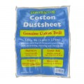 Cotton Twill Dust Sheet 12 X 9 1 Per Pack